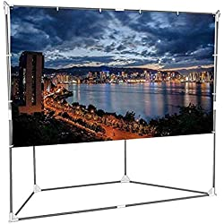 Abdtech 100 inch Outdoor Projector Screen with Stand Home Movie Theater Portable Projection Screen with Frame & Anchor and Travel Bag