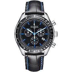 Davosa Swiss Race Legend 16247745 Analog Men Wrist Watch Genuine Leather, Blue