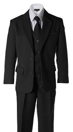 Amazon.com: Boys Dark Grey 2 Button Wedding Suit: Clothing