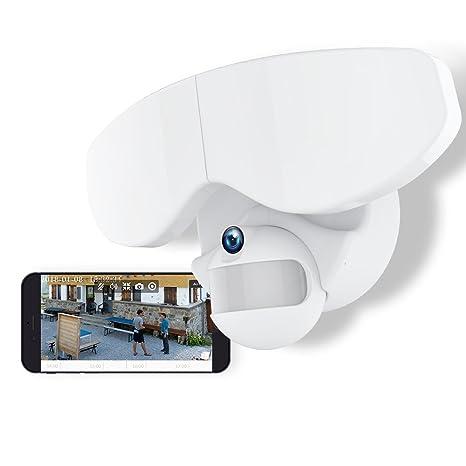 Flood Light Security Camera Impressive Netvue Smart LED Floodlight Camera Compatible With Alexa Echo Show