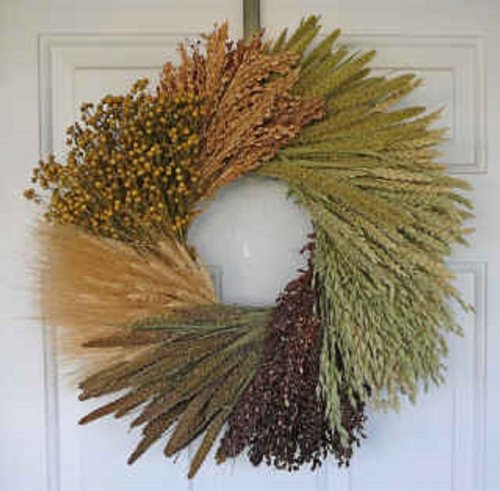 Natures Family Grain and Wheat Wreath
