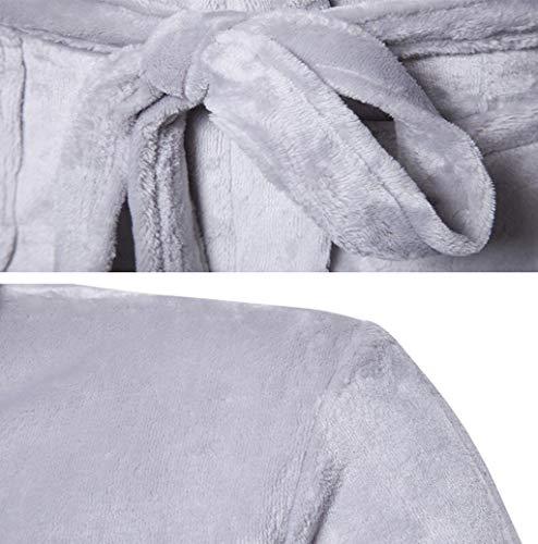 Bianca Unita Tute Dimensioni Da Abbigliamento Caldo Abito Pfsyr Nero Moda Uomo Confortevole colore Inverno Pigiama Spesso Casa L Tinta Indossare Notte zRdwqU