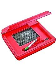 Starrett S4001-060 Precision Steel Pin Gauge Set, Sizes 0.011-0.060-