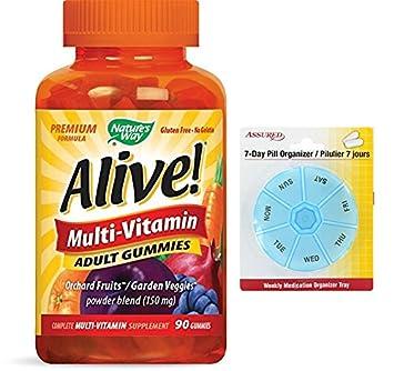 Manera de la naturaleza viva! Premium fórmula multivitamínico adultos gomitas, cuenta 90 con gratis