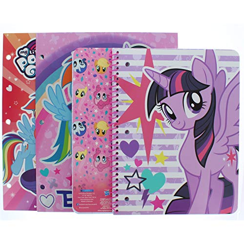 (My Little Pony Portfolio Folder (2 Pack) and 1 Wide Ruled Subject Notebook (Pictures May)