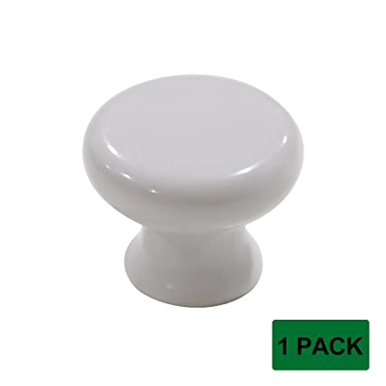 Probrico 1 Pack Plastic Kitchen Cabinet Door Knobs White Cup Board