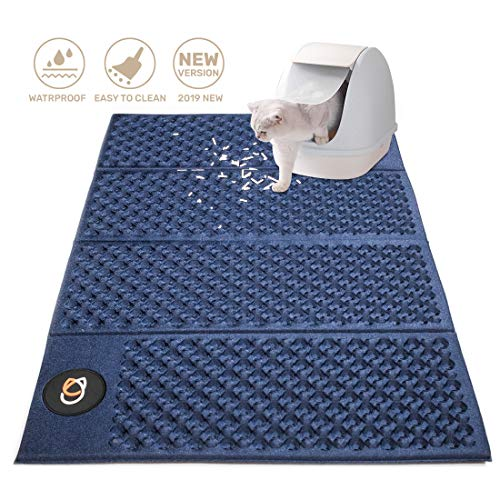 piccpet 2019 New Cat Litter Mat (28.3 × 18.5 inches), Premium Kitty Litter Trapping Mat, No-Toxic EVA Double Sided…