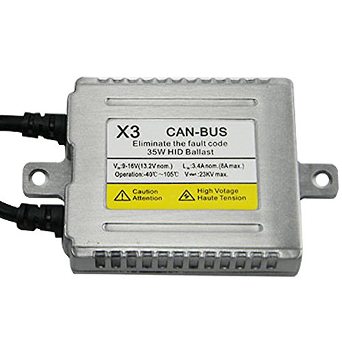 Racbox 35w X3 Canbus Free Error Xenon Ballast for Hid Conversion Kit Replacements