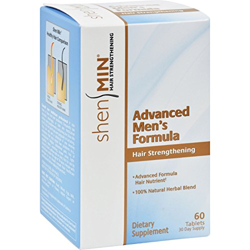 Shen Min Hair Nutrient Advanced Mens Formula - Safe and Effective - Natural Herbal Blend - 60 Tablets (Pack of 2) by Shen Min
