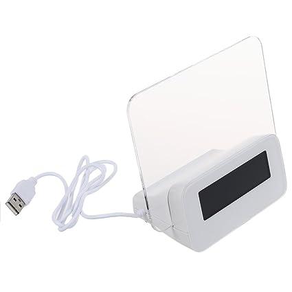 TOOGOO (R) Luz Fluorescente Foro LED de alarma del reloj del calendario del termometro de 4 puertos USB - Verde