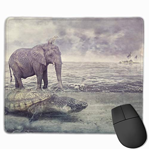 Smooth Mouse Pad Elephant Turtle Mobile Gaming Mousepad Work Mouse Pad Office Pad -