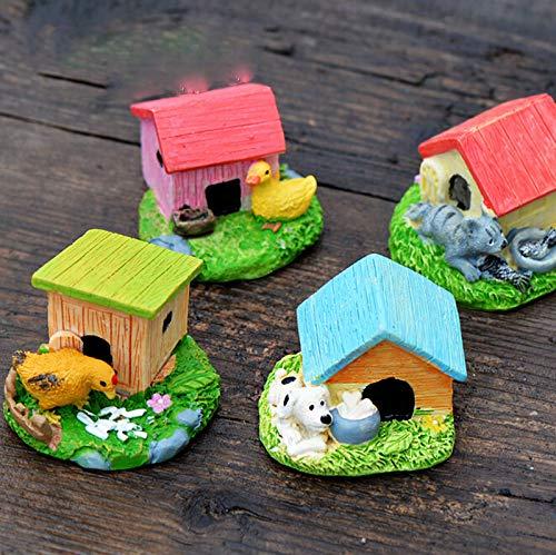 STORE-DECORATIVE - Animal House Figures Miniature Figurine for mini fairy garden Aquarium fish tank animal statue resin craft TNB047 by STORE★DECORATIVE★ (Image #1)
