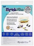 Grafix 50 Sheet Sanded Shrink Film Embellishment, 8-1/2' by 11', Clear