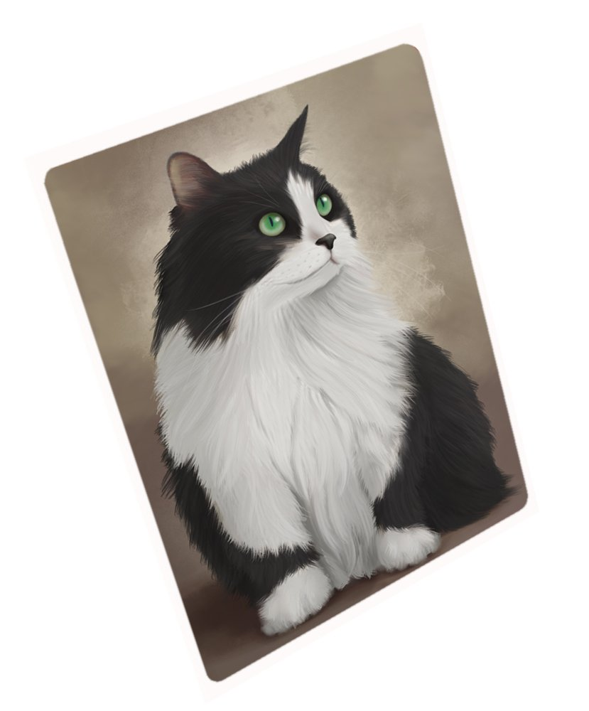 Black And White Persian Cat Rectangle Envelope Seals (50)