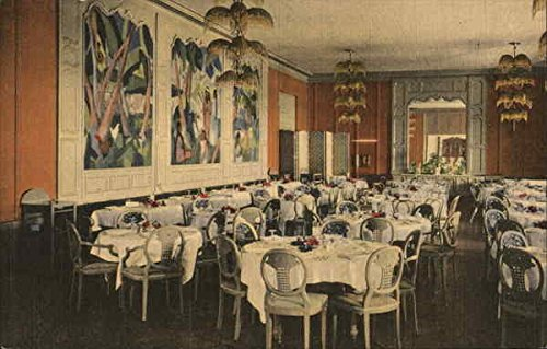 Main Dining Room, Del Monte Lodge Pebble Beach, California Original Vintage  Postcard