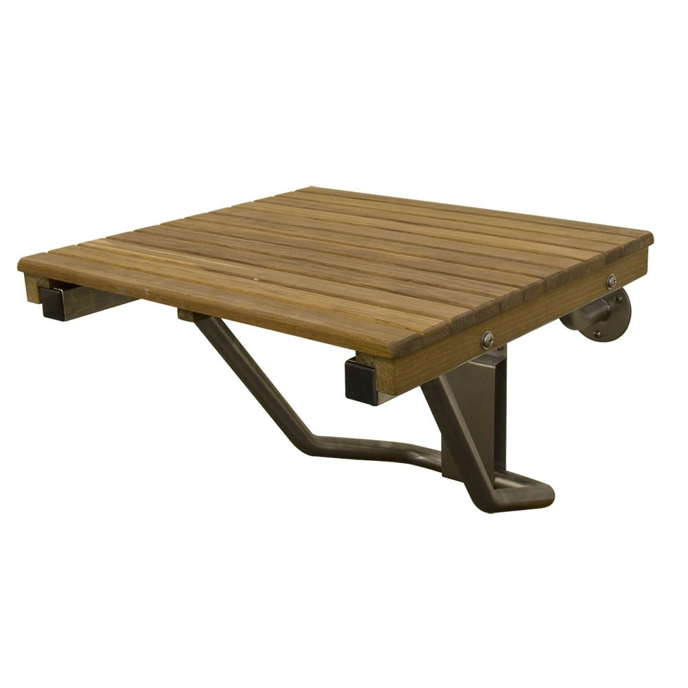 Plantation Teak ADA Wall Mounted Folding Shower Bench/Seat (20''x16'')