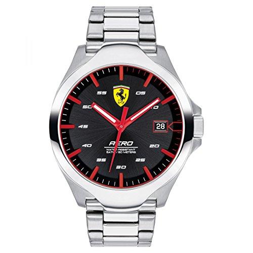 Ferrari Men's 'Aero' Quartz Stainless Steel Casual Watch, Color:Silver-Toned (Model: 0830507)