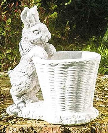 イタリア製動物像(ガーデン オーナメント) 兎のバスケット ITALGARDEN Cod.07 3940 ウサギ 石像 イタルガーデン社