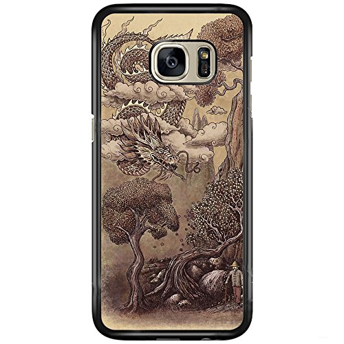 Price comparison product image SEENPIN Galaxy S7 Case Chinese Painting of Dragon [Shock Absorption] Case Cover for Samsung Galaxy S7