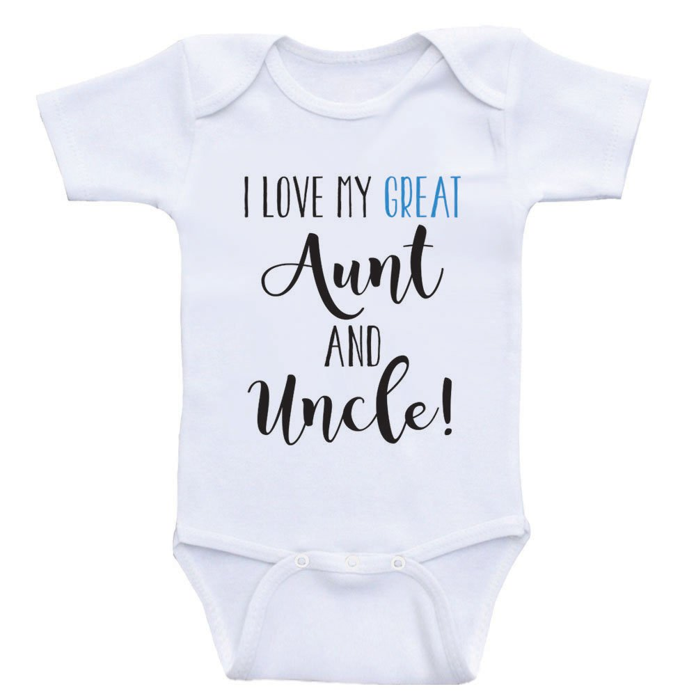 Amazon Com Heart Co Designs Great Aunt Uncle Baby Clothes I Love My