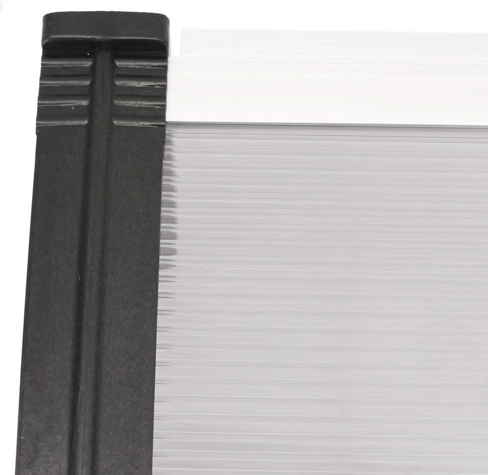 PrimeMatik Vordach 100x60 cm dunkelgrau T/ürdach /Überdachung mit schwarzer Auflage