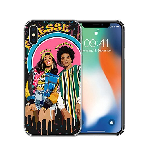 Celebrity Cases - CH Black Pink Cardi B Bruno Mars iPhone 7 Plus Case Rapper Themed 8 Plus Cover Musican Famous Celebrity Singer Rap Music Finesse Fan Artist Hippie Trippy, TPU