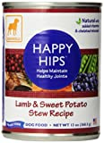 Dogswell Happy Hips For Dogs, Lamb & Sweet Potato Stew Recipe, 13-Ounce Cans (Pack Of 12)