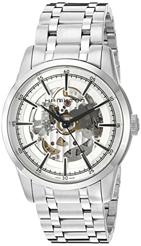 Hamilton Men's 'Timeless Classic' Swiss Automatic Stainless Steel Dress Watch, Color:Silver-Toned (Model: H40655151)