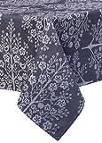 Mahogany Tree of Life Rectangle Jacquard Tablecloth, 60 by 90-Inch, Black
