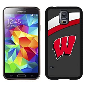 Fashionable And Unique Custom Designed With Ncaa Big Ten Conference Football Wisconsin Badgers 14 Protective Cell Phone Hardshell Cover Case For Samsung Galaxy S5 I9600 G900a G900v G900p G900t G900w Phone Case Black