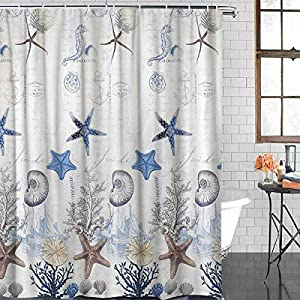 517KSIEkbhL._SS300_ 200+ Beach Shower Curtains and Nautical Shower Curtains