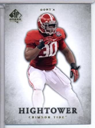 2012 Upper Deck SP Authentic # 7 Dont'a Hightower RC - Alabama ...