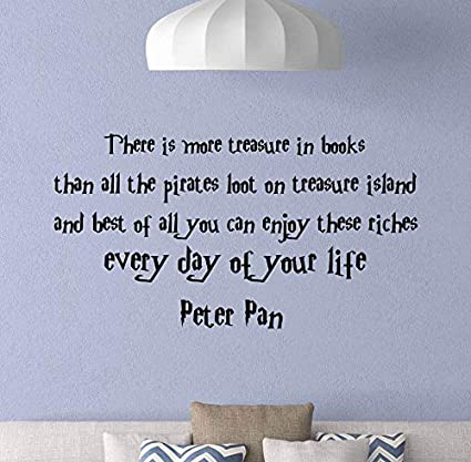 Amazon.com: Peter Pan Quote Wall Decal There is More ...