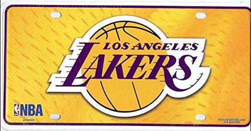 - NBA Los Angeles Lakers Metal License Plate Tag