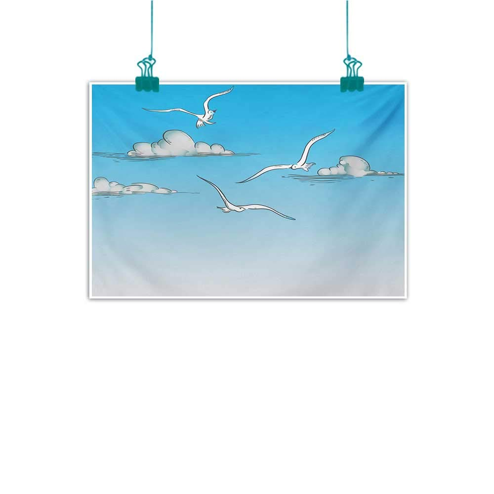 Amazon.com: Mdxizc Abstract Painting Seagulls Tropical ...