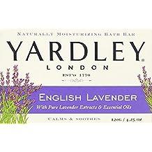 Yardley London English Lavender with Essential Oils Soap Bar, 4.25 oz Bar (Pack of 12)
