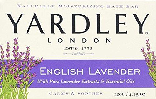 (Yardley London English Lavender with Essential Oils Soap Bar, 4.25 oz Bar (Pack of 12))