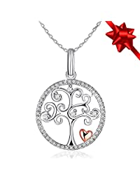 """Necklace, Sterling Silver Necklace J.Rosée Fine Jewelry for Women """"Tree of Life"""" the Best Gift for Wife Girlfriend Mother Daughter, Valentine's Day with Exquisite Package, 18''+ 2"""" Extender"""