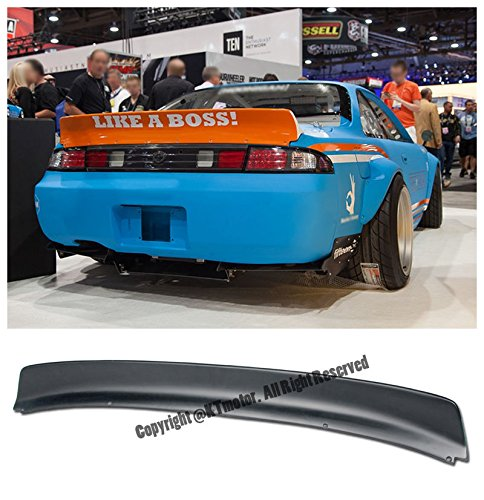 For 95-98 Nissan 240SX S14 2Dr Coupe Rocket Bunny Style FiberGlass Rear Trunk Lid Wing Spoiler Lip 1995 1996 1997 1998 95 96 97 98 (2dr Ground)