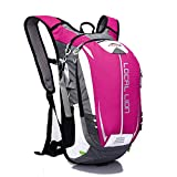LOCALLION Cycling Backpack Riding Backpack Bike Rucksack Outdoor Sports Daypack for Running Hiking Camping Travelling Ultralight Men Women 18L Pink