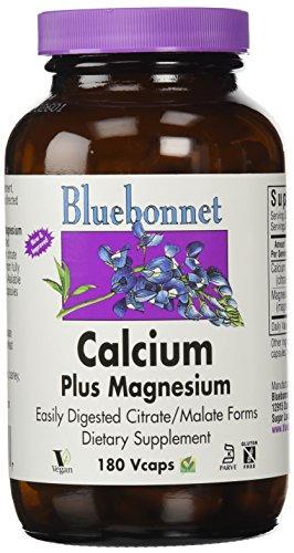 Calcium Citrate Plus Magnesium (BlueBonnet Calcium Citrate Plus Magnesium Vegetarian Capsules, 180 Count)