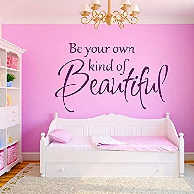 Inspirational Wall Decal Vinyl Inspiring Wall Quote Wall Lettering Words Phrase Wall Stickers Home Art Decor - Be your own kind of Beautiful