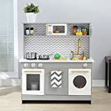Teamson Kids Berlin Wooden Kids Play Kitchen, Toddler Pretend Play Set...