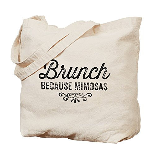 CafePress - Brunch Because Mimosas - Natural Canvas Tote Bag, Cloth Shopping Bag
