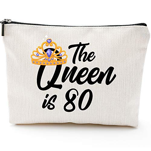 The Queen is 80 Waterproof Makeup Bag