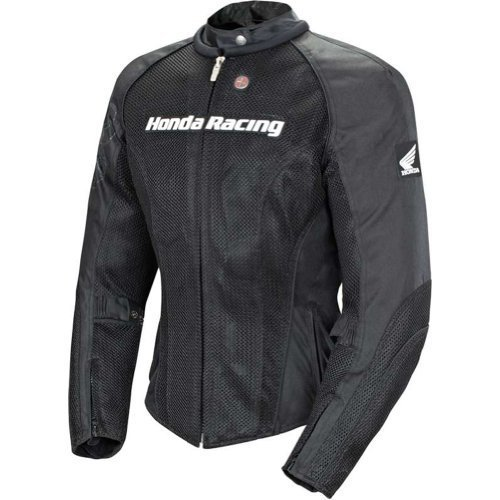 Joe Rocket Honda Speedmesh Women's Textile On-Road Racing Motorcycle Jacket - Black/Black / X-Large