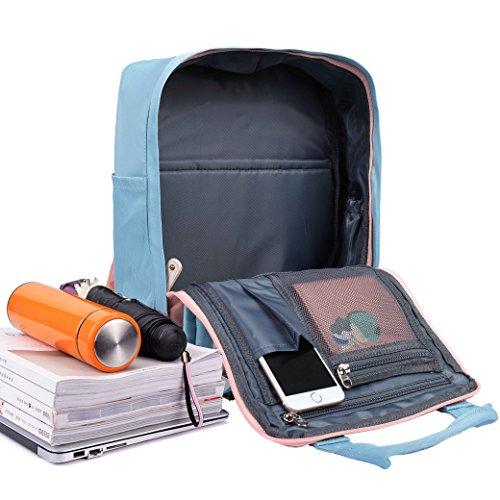 School Laptop Pink Travel Teenagers Backpack Campus Backpack Casual Blue Shop School Unisex Work Daypack Rucksack Gym Sport Waterproof QH Splash Shopping Nylon Light Multifunction Hiking Bags Clapboard q6n0Fxtw