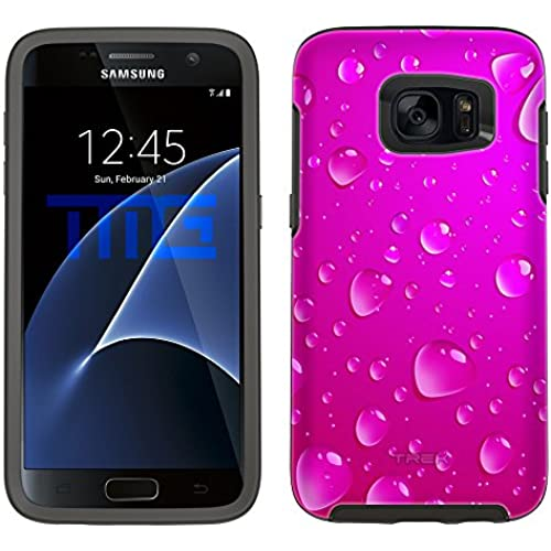 Skin Decal for Otterbox Symmetry Samsung Galaxy S7 Edge Case - Pink Water Drops Sales