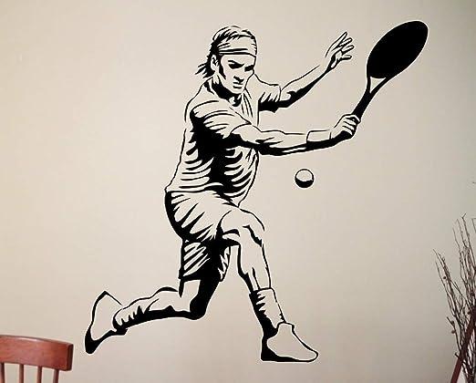 Pegatinas de baño para Paredes Pingu Tennis Custom Sports Play ...
