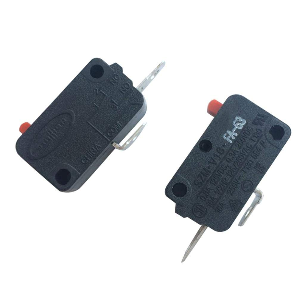 LONYE SZM-V16-FA-63 Microwave Oven Door Micro Switch for LG, GE, Starion Microwave Oven SZM-V16-FD-63 3B73362F(Normally Open)(Pack of 2)